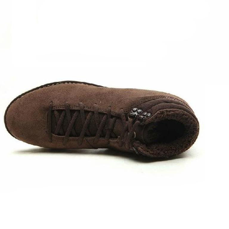 длинные Мужские зимние ботинки подклад из Кролика, зимние сапоги 100% натурвльная кожа, полуботинки